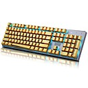 cheap Microphones-E-Element 104 PBT Double Shot Injection Backlit Golden Metal Color Keycaps for all Mechanical Keyboards with Key Puller