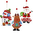 cheap Birthday Home Decorations-Holiday Decorations Snowmen / Santa / Holiday Decals / Ornaments Holiday 1pc / Christmas