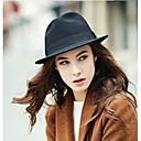 cheap Men's Bracelets-Women's Headwear Cotton Fedora Hat - Solid Colored Pure Color / Fall / Winter