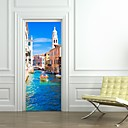 cheap Wall Stickers-Famous Landscape 3D Wall Stickers Plane Wall Stickers 3D Wall Stickers Decorative Wall Stickers 3D, Paper Home Decoration Wall Decal Wall