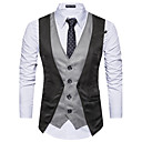 cheap Diving Masks, Snorkels & Fins-Men's Party Wool Tank Top - Color Block Shirt Collar / Sleeveless