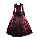 cheap Historical & Vintage Costumes-Rococo Victorian 18th Century Costume Punk Lolita Dress Women's Dress Party Costume Masquerade Red Vintage Cosplay Satin Party Prom Sleeveless Knee Length Floor Length Ball Gown Plus Size Customized