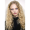 cheap Synthetic Capless Wigs-Synthetic Wig Loose Wave / Water Wave Blonde Synthetic Hair Ombre Hair / Natural Hairline / Middle Part Blonde Wig Women's Long Capless / African American Wig