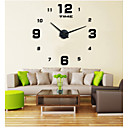 cheap DIY Wall Clocks-Wall Clock,Casual Modern Contemporary Office / Business Stainless Steel EVA Round Indoor / Outdoor Indoor