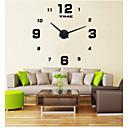 baratos Bricolage Relógios de Parede-Casual Moderno/Contemporâneo Escritório/Negócio Aço Inoxidável EVA Redonda Interior/Exterior Interior,AAA