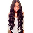 cheap Synthetic Capless Wigs-Human Hair Lace Front Wig Brazilian Hair Wavy Wig Layered Haircut / With Baby Hair 130% Middle Part Bob / Natural Hairline / For Black Women Women's Short / Medium Length / Long Human Hair Lace Wig