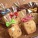 abordables Juegos de Mesa-50 unids arco nudo galleta bolsa sellador pan horneado piruleta pastel paquete surtido de color