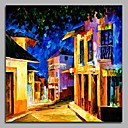 cheap Landscape Paintings-Oil Painting Hand Painted - Landscape Artistic Art Deco / Retro Classic Canvas