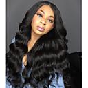 olcso Emberi hajból készült parókák-ELVA HAIR Emberi haj Csipke korona, szőtt Csipke Paróka Maláj haj Hullámos haj Paróka Tincselve 150% Haj denzitás Természetes hajszálvonal Afro-amerikai paróka Női Hosszú Emberi hajból készült parókák