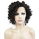preiswerte Hochzeit Dekorationen-Synthetische Lace Front Perücken Kinky Curly Synthetische Haare Braun Perücke Damen Kurz Spitzenfront Braun