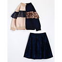 cheap Girls' Dresses-Girls' Color Block Long Sleeve Cotton Clothing Set