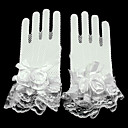 cheap Party Gloves-Lace / Net Wrist Length Glove Mesh / Bridal Gloves / Party / Evening Gloves With Floral / Ruffles