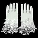 זול כפפות למסיבות-תחרה / רשת אורך פרק כף היד כפפה שבכה / כפפות כלה / כפפות ערב\מסיבה עם פרחוני / קפלים