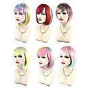 cheap Synthetic Capless Wigs-Synthetic Wig / Cosplay & Costume Wigs Wavy Pink Bob Haircut / With Bangs Synthetic Hair Highlighted / Balayage Hair / Side Part Red / Blue / Pink Wig Women's Short Capless