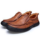 cheap Men's Oxfords-Men's Shoes Nappa Leather Fall / Winter Formal Shoes Loafers & Slip-Ons Brown / Party & Evening
