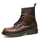 זול נעלי אוקספורד לגברים-בגדי ריקוד גברים מגפיי קרב עור סתיו / חורף מגפיים אפור / חום / אדום