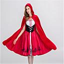tanie Kostiumy dla Dorosłych-Czerwony Kapturek Kostiumy Cosplay Halloween Festiwal/Święto Kostiumy na Halloween Czerwony Modny