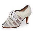 olcso Tánc kiegészítők-Női Latin cipők Háló / Glitter Magassarkúk Illesztés Személyre szabható Dance Shoes Arany / Fekete / Ezüst / Otthoni