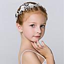 baratos Acessórios de Cabelo-Cristal / Imitação de Pérola Headbands / Flores / Decoração de Cabelo com Floral 1pç Casamento / Ocasião Especial / Festa / Noite Capacete