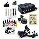 cheap Starter Tattoo Kits-BaseKey Tattoo Machine Starter Kit - 1 pcs Tattoo Machines with 7 x 15 ml tattoo inks, Professional LED power supply Case Included 1 rotary machine liner & shader