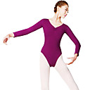 cheap Ballet Dance Wear-Ballet Women's Performance Nylon Long Sleeve Natural Leotard / Onesie