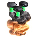 tanie Dopinki w naturalnych kolorach-Włosy indyjskie Body wave Włosy naturalne remy Ombre Ombre Ludzkie włosy wyplata Ludzkich włosów rozszerzeniach