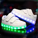 billige Sneakers til damer-Drenge Sko PU Efterår Vinter Lysende Sko Sneakers LED for Afslappet udendørs Hvid Sort