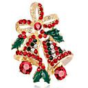 baratos Bijuteria Religiosa-Mulheres Diamante sintético Broches - Flor Broche Dourado / Prata Para Natal