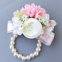 זול מזכרות מחזיקי מפתחות-פרחי חתונה זר פרחים לפרק כף יד חתונה פּוֹלִיאֶסטֶר 3.94 אִינְטשׁ