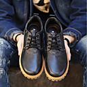 tanie Oksfordki męskie-Męskie Komfortowe buty Skóra Wiosna / Jesień Oksfordki Czarny / Jasnobrązowy / Ciemnobrązowy
