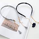 cheap Synthetic Capless Wigs-Pure Handmade Tassel Pearl Pendant Fine Side Hair Band Hoop Simple Retro Card 2PCS
