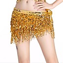 cheap Dance Accessories-Belly Dance Hip Scarves Women's Performance Spandex Sequin Tassel Hip Scarf