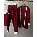 abordables Disfraces de Anime-Mujer Escote en Pico Traje Pijamas Un Color