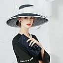 رخيصةأون قطع رأس-ألياف الكتان قبعات مع 1 زفاف / حفل / مساء خوذة