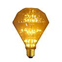 billige LED lyspærer-1pc 3 W 300 lm E26 / E27 LED-glødetrådspærer G95 47 LED Perler COB Dekorativ / Starry Varm hvid 110-240 V / RoHs