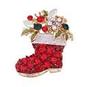 זול סיכות אופנתיות-בגדי ריקוד נשים יהלום סינתטי תפס לשיער - זירקון סגנון חמוד סִכָּה זהב עבור חג מולד / ליציאה