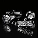 cheap Men's Accessories-Geometric Silver Cufflinks Pattern Men's Costume Jewelry For