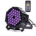 cheap Stage Lights-U'King ZQ-B193B-YK 36*1W LEDs Purple Color Auto DMX Sound Activated Par Stage Lighting with 1 Remote Control for Disco Party Club KTV Wedding