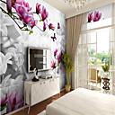 baratos Murais de Parede-Mural Tela de pintura Revestimento de paredes - adesivo necessário Padrão / 3D / Flor