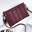 cheap Totes-Women's Bags Sheepskin Crossbody Bag Zipper Black / Red / Gray