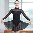 cheap Ballet Dance Wear-Ballet Women's Performance Spandex Long Sleeve Natural Dress