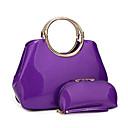 preiswerte Quartz-Damen Taschen Lackleder Bag Set 2 Stück Geldbörse Set Reißverschluss Purpur / Fuchsia / Wein