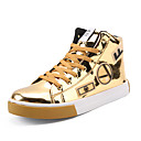 cheap Men's Sneakers-Men's Patent Leather Spring / Fall Comfort Sneakers Mid-Calf Boots Gold / Black / Silver / Party & Evening