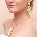 cheap Party Supplies-Women's Jewelry Set - Drop Include Drop Earrings Necklace Gold For Wedding Party