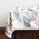 お買い得  テーブルクロス-リネン / コットン混 長方形 / 方形 テーブルクロス バタフライ エコ テーブルデコレーション 1 pcs