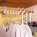 זול ביגוד מדף אחסון-משק הבית פלסטיק לחסוך מקום להחליק קולבים רב תכליתיים לקפל בגדים קולב קסם קולב שימושי