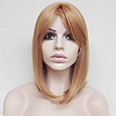 cheap Synthetic Capless Wigs-Synthetic Wig Straight Blonde Asymmetrical Haircut / With Bangs Synthetic Hair Natural Hairline Blonde Wig Women's Short Capless