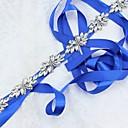 billige Strømpebånd til bryllup-Sateng / tyll / Polyester / Cotton Bryllup / Spesiell Leilighet Bånd Med Rhinsten Dame Skjerf