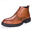 זול מגפיים לגברים-בגדי ריקוד גברים Fashion Boots עור סתיו / חורף מגפיים מגפונים\מגף קרסול שחור / חום / מסיבה וערב
