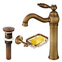 baratos Luzes Pingente-Faucet Set - Separada Cobre Envelhecido Conjunto Central Monocomando e Uma Abertura
